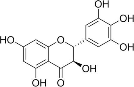 Химическая структура дигидромирицетина (ДМИ).