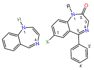 Структура бензодиазепина