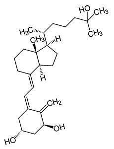 Исследование здоровых, но полных людей показали, что приём 500мг берберина трижды в день в течение 12 недель способствует повышению кальцитриола в сыворотке крови на 59.5%