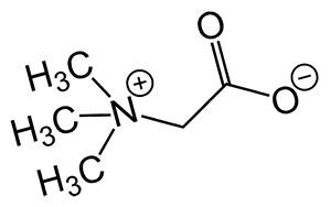 Структура бетаина (триметилглицина)
