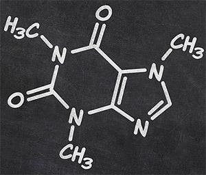 Взаимодействие бикарбоната натрия с кофеином