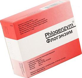 Флогензим – это название препарата, в состав которого входят бромелайн (90мг), трипсин (48мг) и тригидрат рутозида (100мг); обычно выпускается в форме капсул