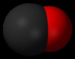Молекула окиси углерода