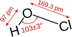 Цезальпиния: хлорноватистая кислота