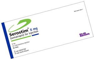 Соматропин производится различными  фармацевтическими компаниями, и продается практически во всех развитых  странах мира. Наиболее известными торговыми марками являются: Serostim  (Serono), Saizen (Serono), Humatrope (Eli Lilly), Нордитропин (Novo Nodisk), Omnitrope (Sandoz), а также Генотропин (Pharmacia)