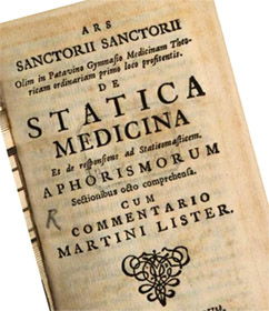 Первые контролируемые эксперименты о метаболизме человека были опубликованы Санторио в 1614 году в его книге Ars de statica Medicina