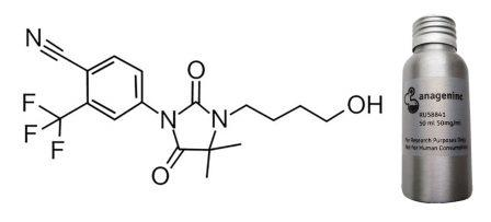 Химическая структура RU58841