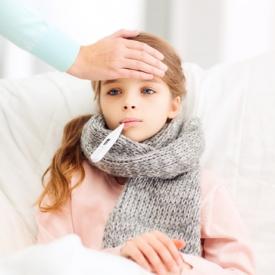Наиболее распространенными симптомами гриппа являются температура и кашель.