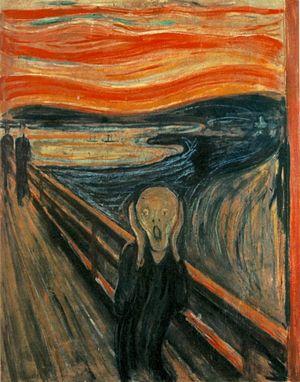 """""""Крик"""" - серия картин норвежского художника-экспрессиониста Эдварда Мунка, созданная в промежутке между 1893 и 1910 годами. Она хорошо передаёт эмоции, которые человек может испытывать во время страха, а также при панических и стрессовых ситуациях."""