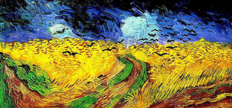 «Пшеничное поле с воронами» - последняя картина нидерландского живописца Винсента Ван Гога, прекрасно иллюстрирующая эмоциональное состояние художника в конце жизни. По одной из версий, Ван Гог застрелился в процессе работы над картиной. Большую часть жизни Ван Гог боролся с эпизодами тяжелой депрессии. Последними словами художника были: La tristesse durera toujours («Печаль будет длиться вечно»).