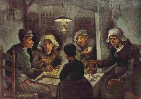 """Картина Ван Гога """"Едоки картофеля"""""""