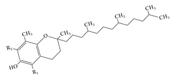Структура витамина Е